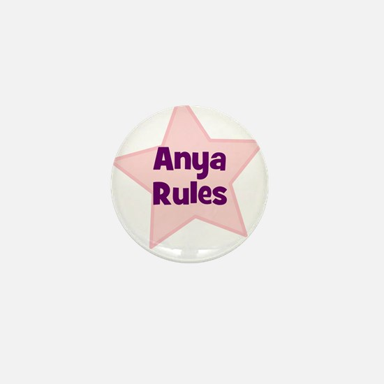 Anya Rules Mini Button