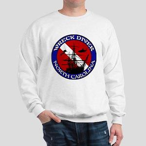 Wreck Dive North Carolina Shi Sweatshirt