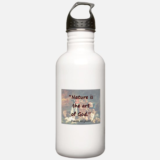Nature Is The Art Of God - Dante Water Bottle