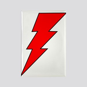 The Red Lightning Bolt Shop Rectangle Magnet