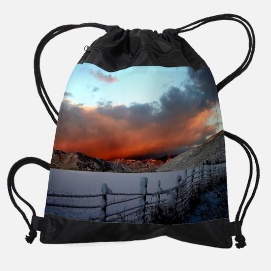 Autumn's Gone.png Drawstring Bag