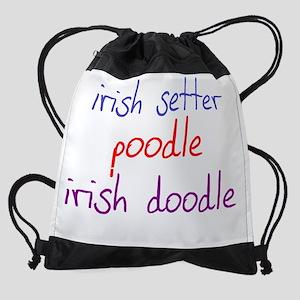 irishdoodle_black Drawstring Bag