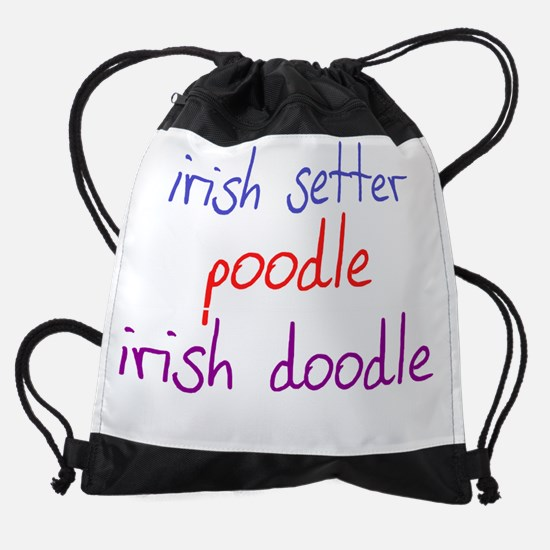 irishdoodle_black.png Drawstring Bag