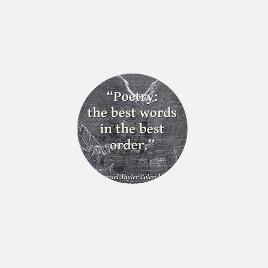 Poetry The Best Words - Coleridge Mini Button