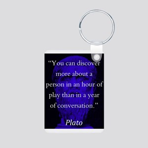 You Can Discover More - Plato Aluminum Photo Keych