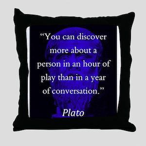 You Can Discover More - Plato Throw Pillow