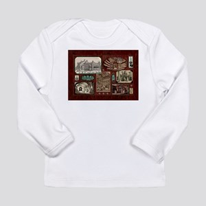 Paris Opera House, Vintage Red Collage Long Sleeve