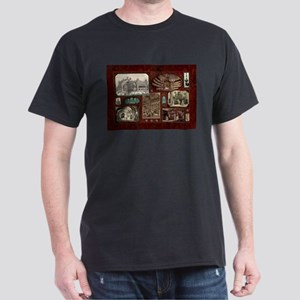 Paris Opera House, Vintage Red Collage T-Shirt