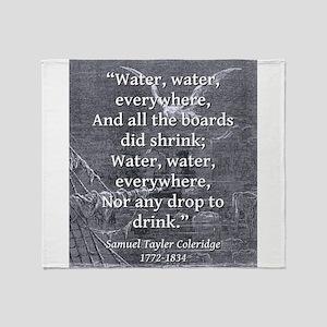 Water Water Everywhere - Coleridge Throw Blanket