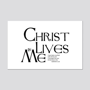 Christ Lives in Me Mini Poster Print