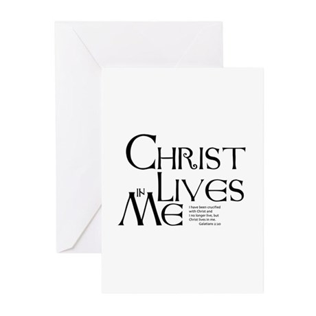 Christ Lives in Me Greeting Cards (Pk of 10)
