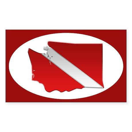 """Washington Diver Flag"" Oval Sticker"