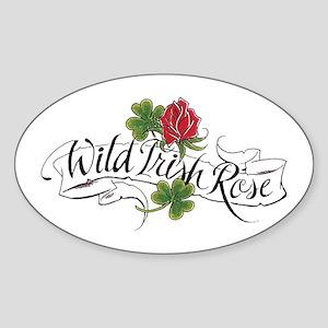 Wild Irish Rose Oval Sticker
