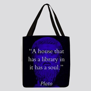 A House That Has A Library - Plato Polyester Tote