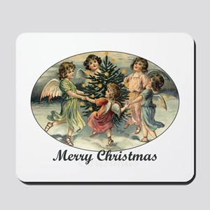 Victorian Calroling Angels - Merry Christmas Mouse