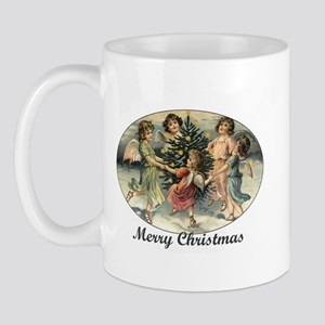 Victorian Calroling Angels - Merry Christmas Mug