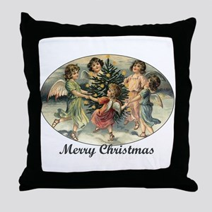 Victorian Calroling Angels - Merry Christmas Throw