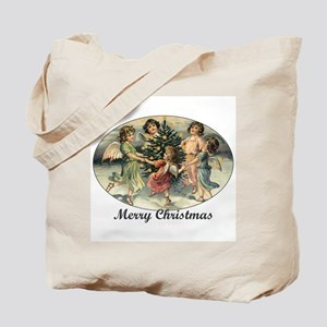 Victorian Calroling Angels - Merry Christmas Tote
