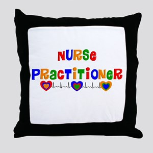Nurse practitioner 2 Throw Pillow