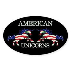 American Unicorns Decal
