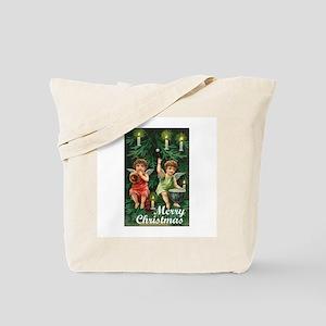 Merry Christmas - Tiny Angels on Tree Tote Bag