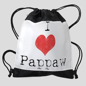 I heart pappaw Drawstring Bag