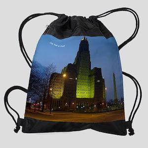 city hall at dusk Drawstring Bag