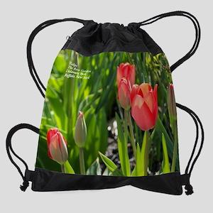 Tulips Rose Garden Drawstring Bag