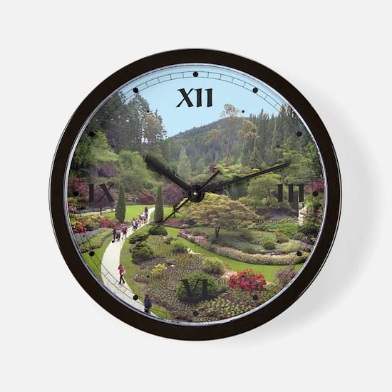 Garden Walk Wall Clock