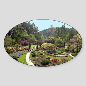 Garden Walk Oval Sticker