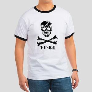 Scull & Crossbones VF84 REV BLK T-Shirt