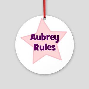 Aubrey Rules Ornament (Round)
