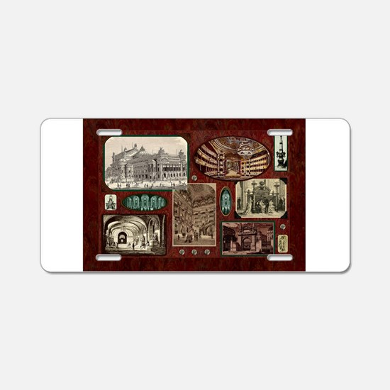 Paris Opera House, Vintage Red Collage Aluminum Li