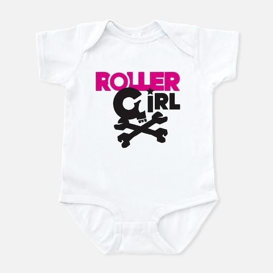 Rollergirl Skull Logo Pink Infant Bodysuit