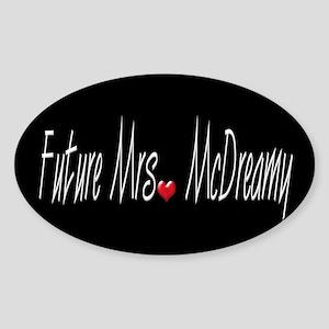 Future Mrs. McDreamy Oval Sticker
