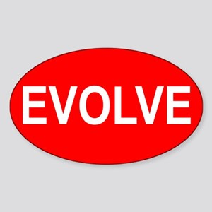 Evolve - Oval Sticker
