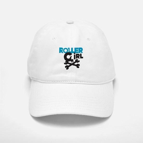 Rollergirl Skull Logo Blue Baseball Baseball Cap