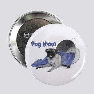 "Pug Mom 2.25"" Button (100 pack)"