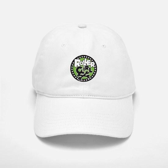 Rollergirl Skull Circle Green Baseball Baseball Cap