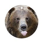 CA Grizzly Bear - Holiday Ornament