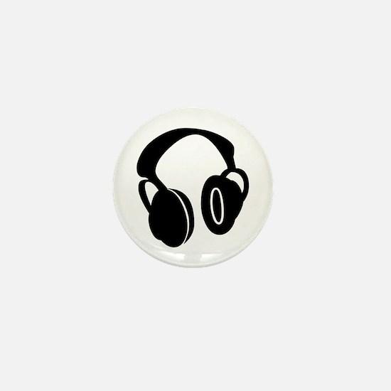 DJ Headphones Mini Button