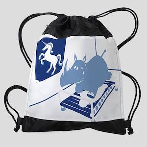 Hippo and Unicorn Humor Drawstring Bag