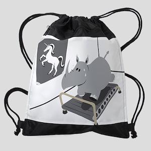 Hippo wants to be an Unicorn Drawstring Bag