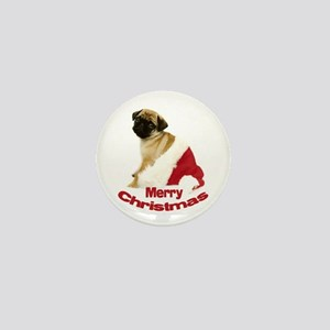 Holiday Pug Mini Button