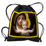 2-babyJesus-.jpg Drawstring Bag