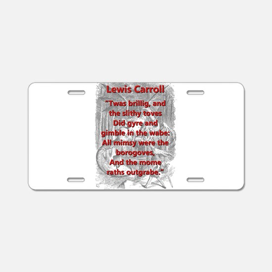 Jabberwocky 1 and 7 - L Carroll Aluminum License P
