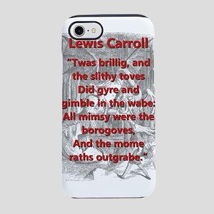 Jabberwocky 1 and 7 - L Carroll iPhone 7 Tough Cas