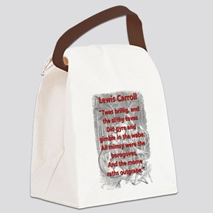 Jabberwocky 1 and 7 - L Carroll Canvas Lunch Bag