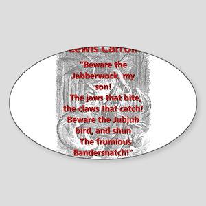 Jabberwocky 2 - L Carroll Sticker