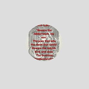 Jabberwocky 2 - L Carroll Mini Button
